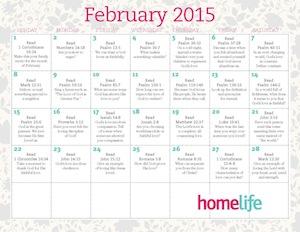 HomeLife Family Time February 2015 Calendar