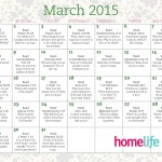 March 2015 Family Time Calendar and Scripture Art