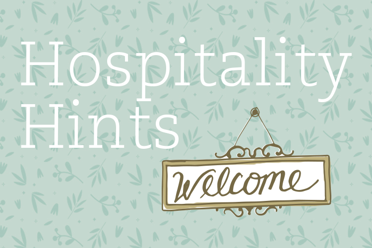 Hospitality Hints | Monday Night Dinners with Lysa