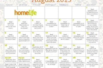 August HomeLife Family Calendar