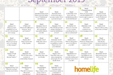 September HomeLife Family Time Calendar