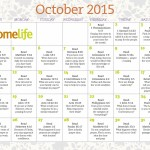 October 2015 HomeLife Family Time Calendar and Scripture Art