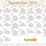 November 2015 HomeLife Family Calendar and Scripture Art