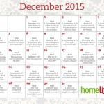 December 2015 HomeLife Family Time Calendar and Scripture Art
