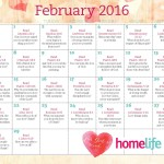 HomeLife Family Time Calendar | February 2016