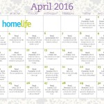 HomeLife Family Time Calendar | April 2016
