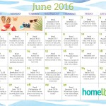 HomeLife Family Time Calendar | June 2016