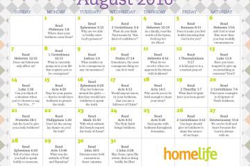 HomeLife Family Time Calendar | August 2016