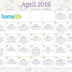 HomeLife Family Time Calendar | April 2016