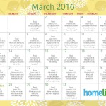 HomeLife Family Time Calendar | March 2016
